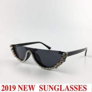 Солнцезащитные очки 2021 Высококачественные женские шикарные панк роскошный женский бренд дизайнер Crystal Cat Sun Glasses женщин мода оттенки NX