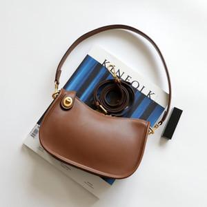 TOTES 2021 Niche Design Bag Bag Howhide Ретро Французская Плеч-замок