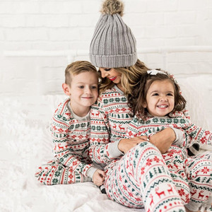 Matching Christmas Pajamas Sets New Year's Mom and Dad Baby Kid Clothes Print Family Outfits Sleepwear Nightwear 4 Styles