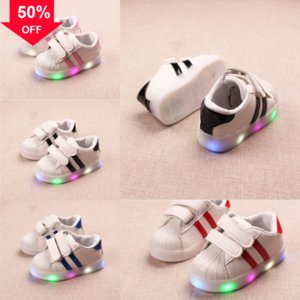 Herbst Frühling Sneakers Licht Schuhe Sport Schuhe Baby Jungen Mädchen LED Leuchtschuh Kinder LED Atmungsaktive Kinder Light Shoe LAS LAUFEN # 150