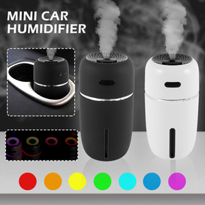 Portable Humidificateur d'air de voiture LED Humidificateur essentiel Diffuseur Mini USB Humididificateur Air Purificateur Voiture Ultrasonic Aromathérapie Diffuseur USB