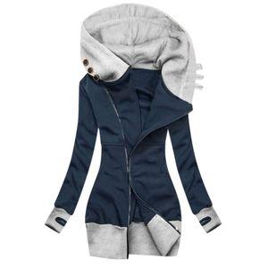 Coats And Jackets Women 2020 Fashion Warm Solid Jacket Zipper Pocket Sweatshirt Long Sleeve Pullover Coat ?????? ??????? 2020