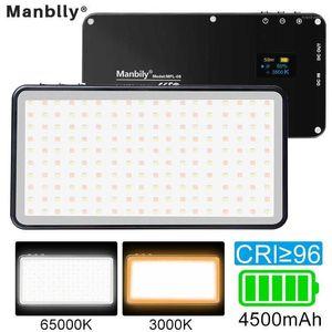 Manbily MFL-06 светодиодный видео светильник аккумулятор 4500mAh Dimmable 3000K-6500K Заполнить свет для фотокамеру SmartPhone1