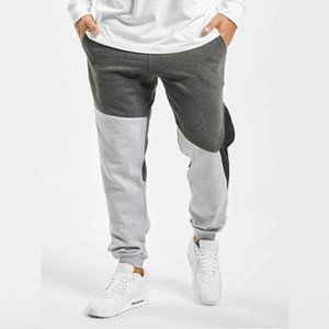 Pantalon Hommes Jogger hiver épais Hip Hop Hommes Contraste coloré Pantalons Sport Casual Man Entraînement sportif Slim-Fit Pantalons Casual