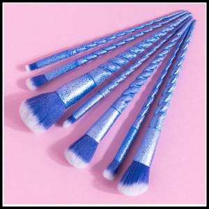 7PCS Protable Makeup Brush Set Eye shadow Powder Make Up Toiletry Eyebrow Lip Cosmetic Beauty Make Up Brush Travel Kit