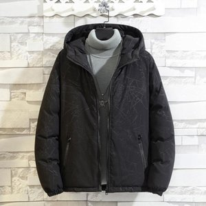 Men's Down & Parkas 2021 Brand Jackets Men Winter Fashion Warm Thick Parka Coat Oversize 6XL 7XL 8XL Black Padded Jacket Clothing