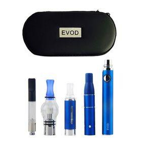 Vape Dab Pens Evod Vaporizer 4 in 1 스타터 키트 건조한 허브 왁스 오일 vapes 510 나사 usb 패스 스루 CE3 vape 카트리지 키트