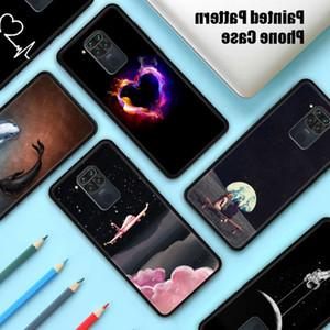 3ew2qSilicone for Xiaomi Redmi Note 9 9S Max Soft TPU Phone Shell Print Pattern Case on Poco X3 X2 M2 F2 Pro Pocophone F1