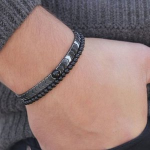 Neue Produkte auf dem Markt Mode Mode Charm Hematit Einfache Handgemachte Magnettherapie Armband