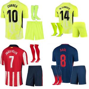 20 21 children's team kit Suarez home away match 3 soccer shirt 2020 2021 Correa camisetas de futbol youth team Joao Felix men's children's