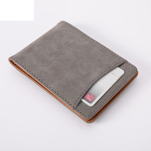 2019 New Arrival Man Simple Design Wallet Mini Magnet Leather Wallet Card Holder Purse Brand New Slim Short Wallet