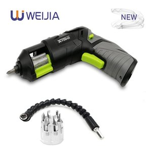Pistol design Mini Cordless Electric Screwdriver rechargeable Lithium Battery with LED Lighting and Head for Home DIY for 7 PCS Y200321