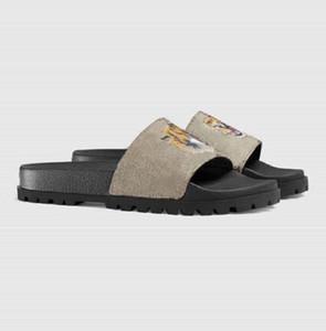 Classici Sandali Pantofole Frubber Slide Sandalo Sandalo Broccato Floral Broccato Ingranaggi Flip flop Donne Spiaggia Spiaggia Spiaggia Causal Slipper SH02 PG03