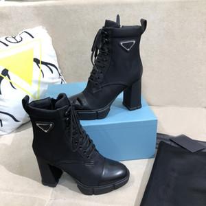 Designer Designer Placca di lusso stivali da 9,5 cm tacchi alti caviglia in vera pelle da combattimento in vera pelle stivali invernali con scatola superiore