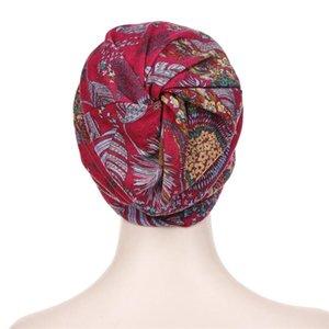 Fashion Wide Brim Sun Hat New Cotton Hat Hijab Turban Head Wrap Hair Loss Chemo Cap Headscarf Wraps Cover Visor Cap For Women