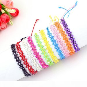 10 Colors Cords Strands Handmade Rope Braid Hemp Women Acrylic Beads Friendship Bracelet Sister Wholesale