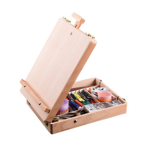 Wooden Easel for Painting Sketch Easel Drawing Table Box Oil Paint Laptop Accessories Painting Art Supplies For Artist Children Y200428