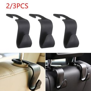 2 3PCS Plastic Car Back Seat Hooks Hanger Universal Headrest Mount Storage Racks Clips Bag Purse Cloth Storage Holders & Racks