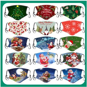 Женская маска дизайнер 2020 рождественские буквы напечатанные хлопчатобумажные цветки американская печать ткань пыли мода маска