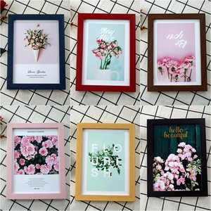 5 6 7 8 10in Nordic Style Picture Frame Black Color Photo Frames Hanger Wall Photo Bedroom Table Decor Living Home Craft Gifts