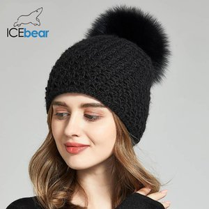 ICEbear Women Hats For Winter Imitate Wool Thick Caps For Female Solid Colors New Brand Skulls beanies E-MX18130FQ