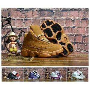 13s Cats Black Cats Toddler Sneakers Bred Flint Bambini Scarpe infantile 13 Big Boy Girl Bambini formatori con scatola