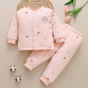 Infant and young children's warm suit Antarctic autumn winter underwear with Cotton baby clothes 6-12 months