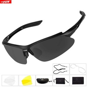 BATFOX Vélo Polarized Sports Bicycle Sunglasses Interchangeables Lentilles TR90 incassable SUPPLABLE Cadre de vélo de vélo