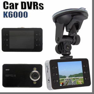 "K6000 2.4"" Full HD 720P TFT SCREEN Camera Car DVR Camera Recorder Dash Cam Camcorder Vehicle With G-sensor Registrator with Retail Box"