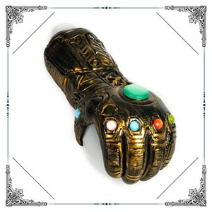 New Big Pipe Hand Glass Smoking Pipe With Copper art Thanos-Infinity-Gauntlet Heavy Glass tobacco pipes Hot Sale Free shipping