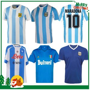 1978 1986 Argentine Maradona Home Soccer Jersey Retro 1981 Boca Juniors 87 88 Naples Napoli Football Shirt