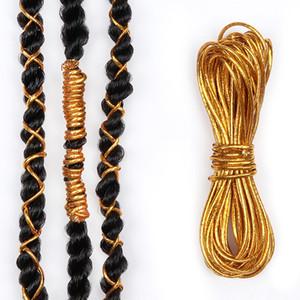 5 pcs dreadlock perles tresses accessoires de cheveux tressage coiffure coiffure chatoil tressage tressage de cheveux longs 1 m / pc
