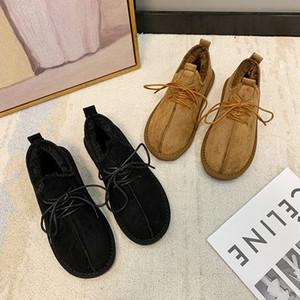 Brand New Winter Women Snow Boots Casual Fur Warm Flat Heel Fashion shoe Womens Sneakers Luxurys Designers Shoes