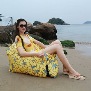 Portable Inflatable Sofa Outdoor Air Sofa Lounger Waterproof Lazy Sofa Inflatable Chair for Camping Beach Garden Home Furniture Q1130