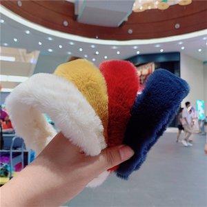 Ano Novo feminino de pele de coelho headbands gilrs hairbands acessórios de cabelo vintage faixas de cabelo festa de inverno jóias headband e121704