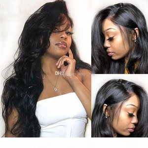 Brazilian Human Hair Silk Base Full Lace Wigs Body Wave 5*4.5'' Silk Top Lace Front Wig Natural Hairline Silk Top Wig