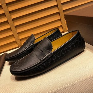 Genuine Leather shoes Men Loafers Slip On Business Casual Leather Shoes Luxury Classic Soft Moccasins Hombre Breathable Men Shoes Flats