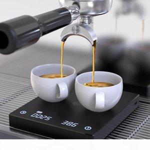 Black Basic Kaffeeskala Smart Digital Scale Gießen Kaffee elektronische Tropfkaffeeskala mit Timer 2kg 0,1 g