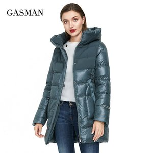 GASMAN Women's winter jacket new long warm beige down parka coat Women fashion collection outwear Female elegant jacket 008 201123