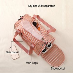 PVC Transparent Yoga Gym Bags Tas For Sac De Outdoor Sport Dry Wet Swimming Bag Fitness Training Gymtas Travel Handbags Z1121