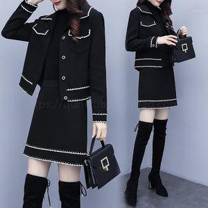 Fragrance Womens Tweed 2 Piece Skirt Suits Office Formal Skirts Business Suit Ensemble Femme Survetement Conjunto Feminino1