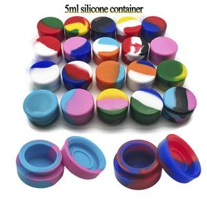 Silicone Jars 2mL 3mL 5mL 7mL Round Non-stick Silicone Container Dab Wax Jars Dab Rig Wax Silicone Jars for Vaporizer Glass Bong DHL