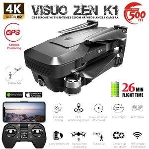 Visuo Zen K1 GPS Quadcopter 4 K Ile İkili HD Kamera Güzellik Filtresi 5G Wifi Optiacal Akış Fırçasız RC Drone 30mins Uçan Zaman 201221