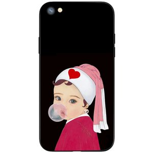 IPhone Following FromCute Version of Painted Characters TPU Creative Cartoon Mobile Phone Protection Soft Shell