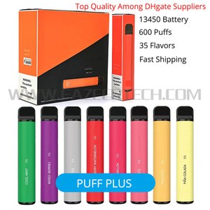 DHL Shipping Factory Buff Bar Plus 800 Puffs 13450 Bateria 450 MAH Descartável Vape Pod Pen