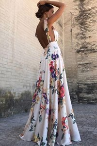 Women dress summer 2019 Fashion Women Print Boho Floral Long Maxi dress Sleeveless Evening Party Beach Sundress Open back