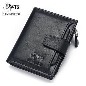 DWTS бренд бумажник мужчины кожаные мужские кошельки кошелек короткий мужские сцепления кожаный бумажник мужская качества мешок денег гарантия C1115