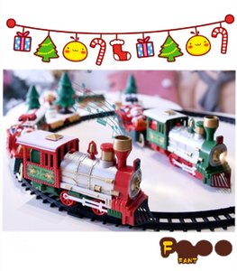 FantasyTimes Electric train a variety of Christmas theme electric track toys have music to develop intelligence for children