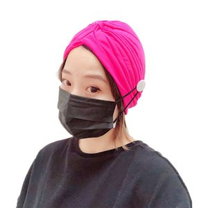 10pcs Lot Brand New Trend Fitness Head Scarf With Button Pure Color Polyester Hair Bands For Women Scrunchies Sports Yoga Headbands Jewelry