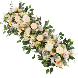 50 100cm custom wedding flower wall arrangement supplies silk peonies artificial flower row decor for wedding iron arch backdrop